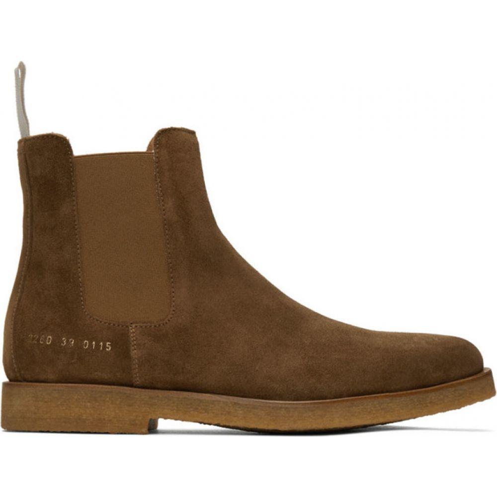 コモン プロジェクト Common Projects メンズ ブーツ チェルシーブーツ シューズ・靴【Brown Suede Chelsea Boots】Tobacco