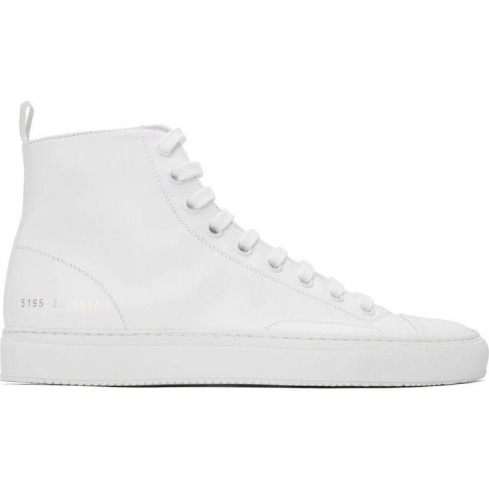 コモン プロジェクト Common Projects メンズ スニーカー シューズ・靴【White Tournament High-Top Sneakers】White