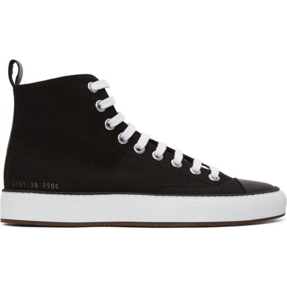 コモン プロジェクト Common Projects メンズ スニーカー シューズ・靴【Black Tournament High Sneakers】Black