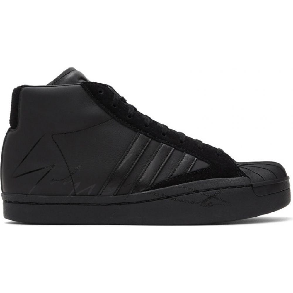 ワイスリー Y-3 メンズ スニーカー シューズ・靴【Black Yohji Pro Sneakers】Black/Cloud white/Black
