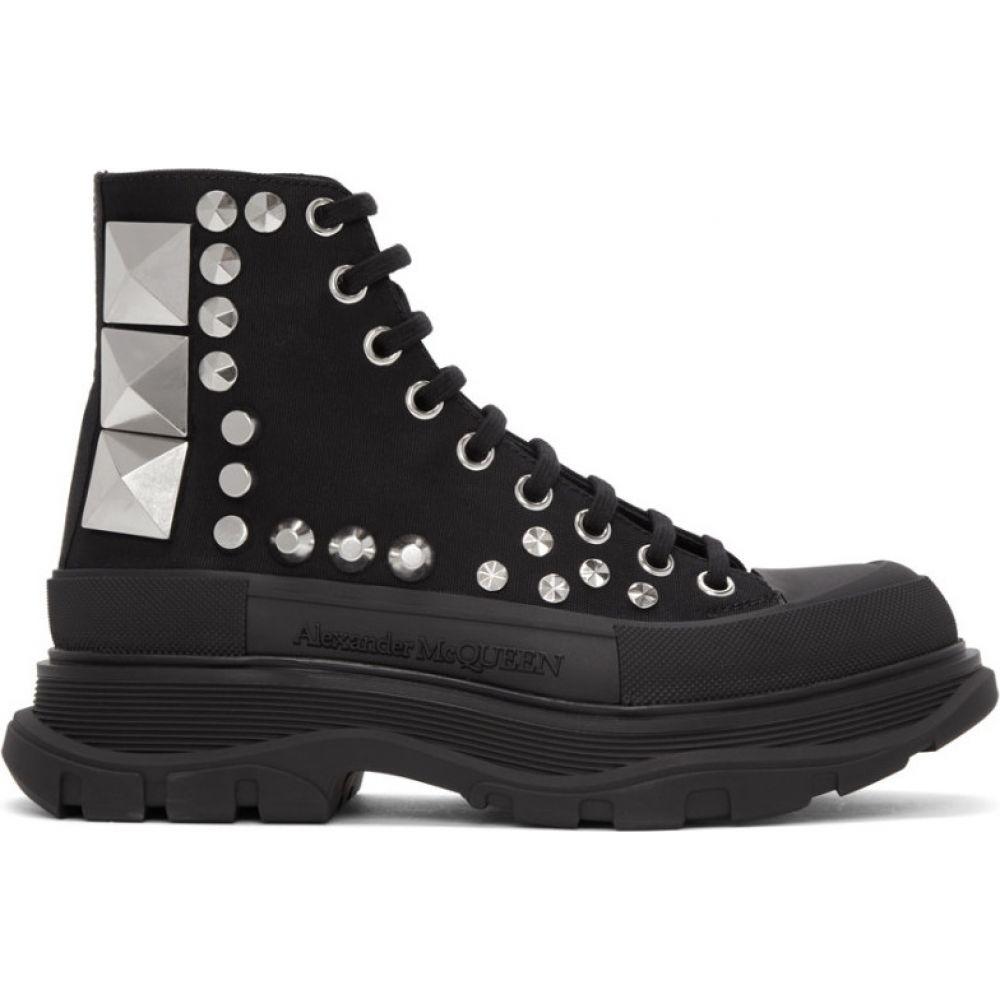 アレキサンダー マックイーン Alexander McQueen メンズ ブーツ シューズ・靴【Black Studded Boots】Black/Silver