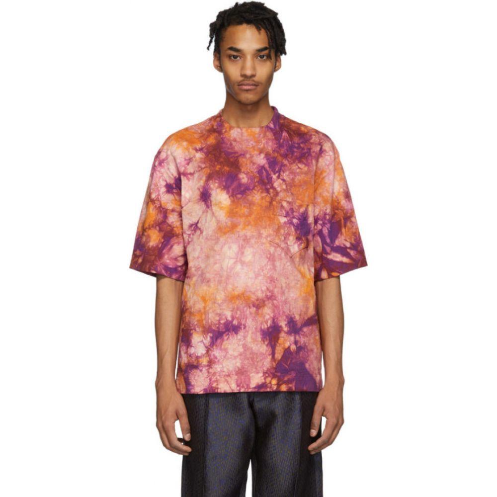 ニコラス デイリー Nicholas Daley メンズ Tシャツ トップス【Pink Tie-Dye T-Shirt】Orange/Red