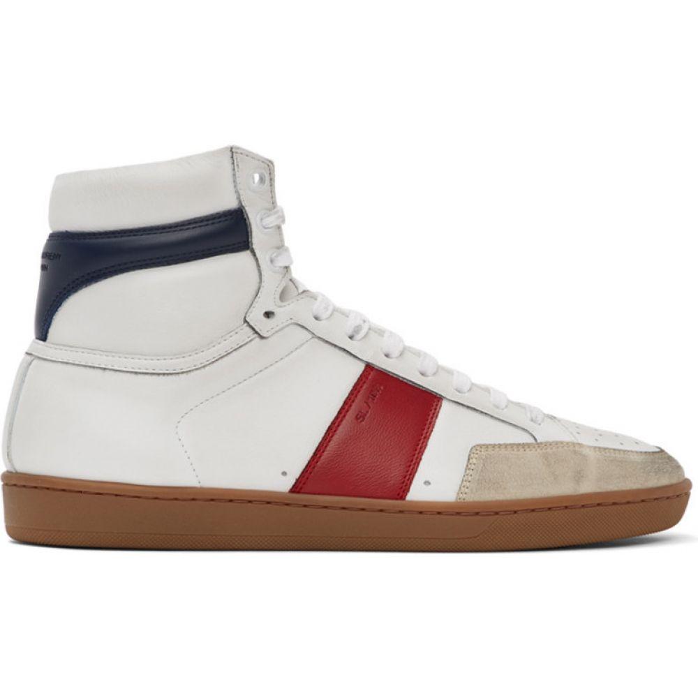 イヴ サンローラン Saint Laurent メンズ スニーカー シューズ・靴【White & Red Court Classic SL/10H Sneakers】Blue/Red/Optic White