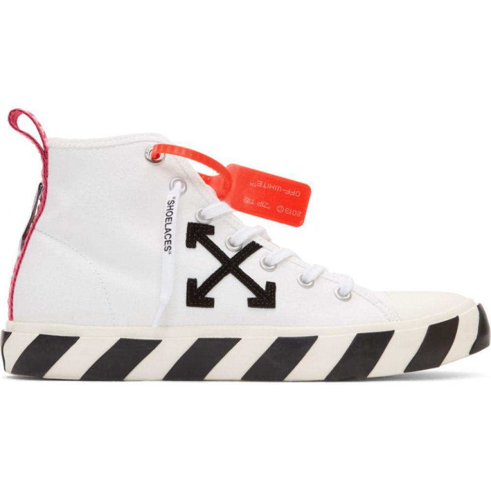オフホワイト Off-White メンズ スニーカー シューズ・靴【White & Black Arrows Mid-Top Sneakers】White/Black