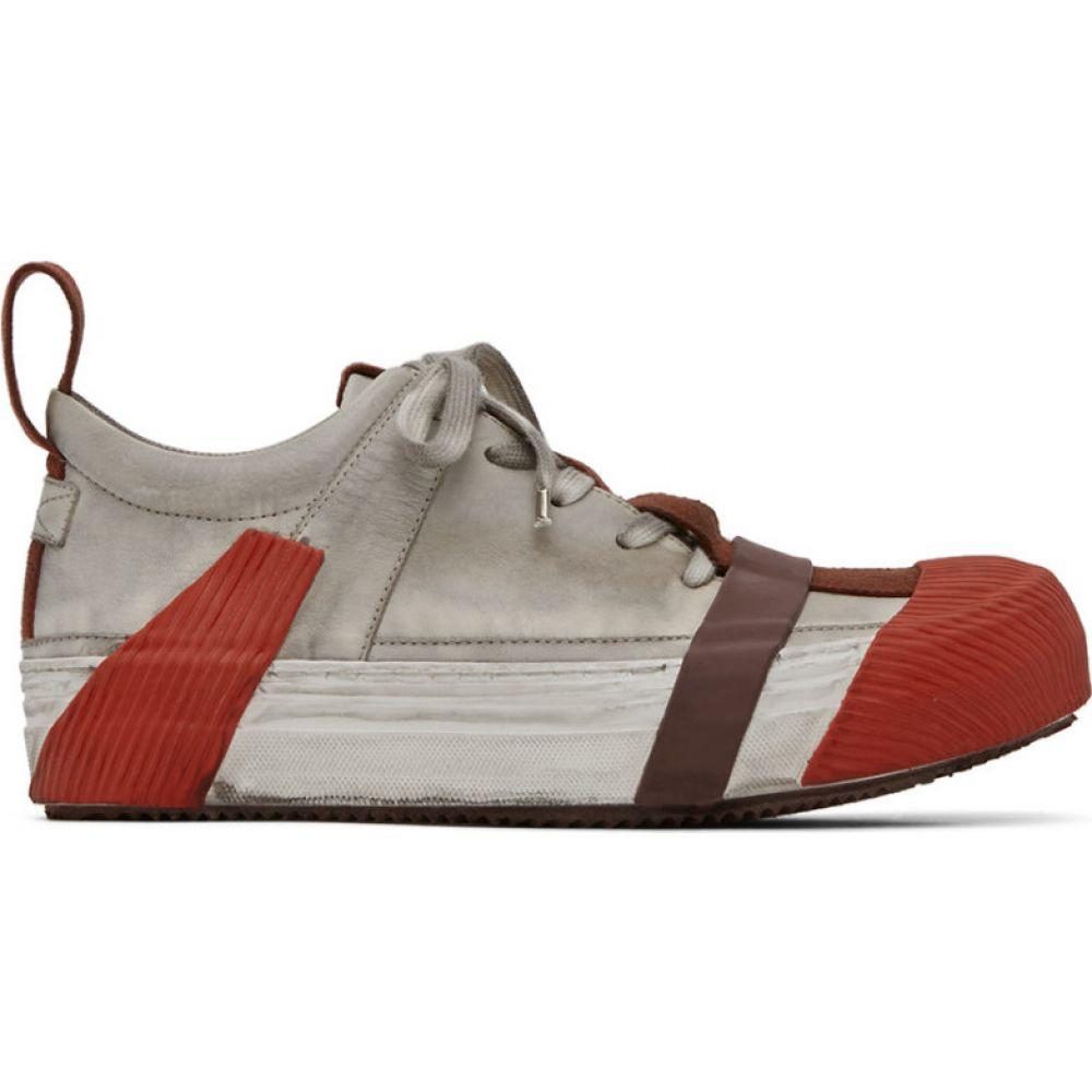 ボリス ビジャン サベリ Boris Bidjan Saberi メンズ スニーカー シューズ・靴【Grey & Red Bamba2 Sneakers】Light grey/Red