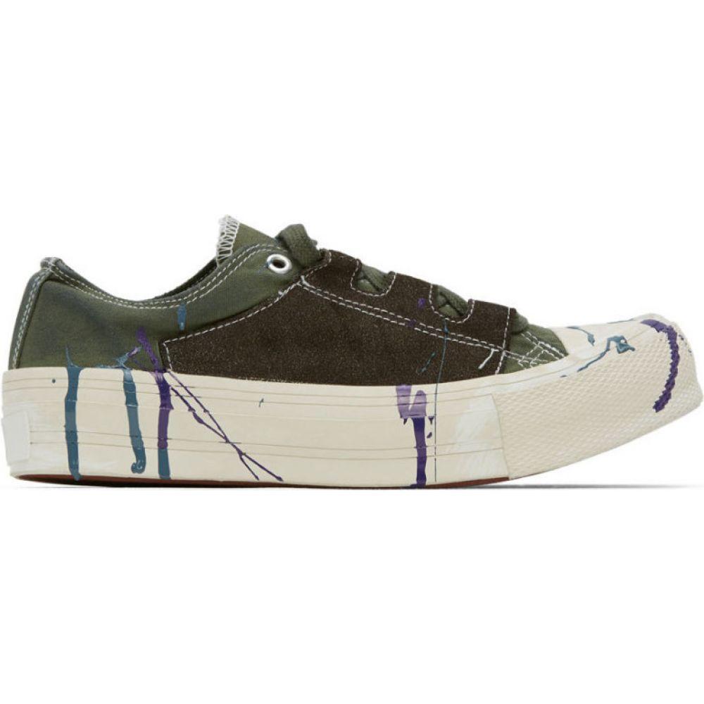 ニードルズ Needles メンズ スニーカー シューズ・靴【Khaki Paint Ghillie Sneakers】Olive