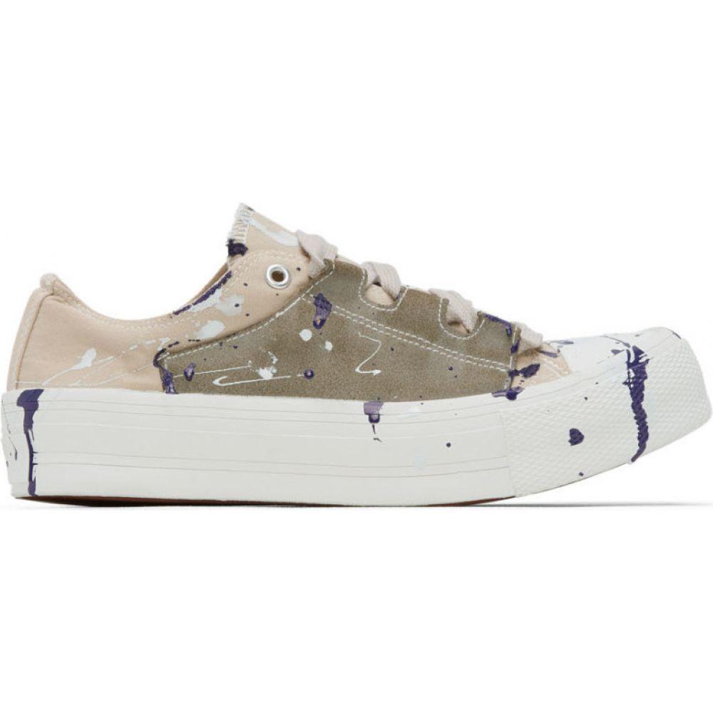 ニードルズ Needles メンズ スニーカー シューズ・靴【Beige Paint Ghillie Sneakers】Khaki
