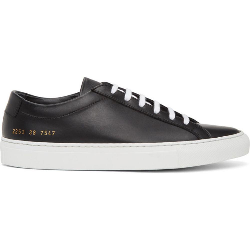 コモン プロジェクト Common Projects メンズ スニーカー シューズ・靴【Black Leather Achilles Sneakers】Black