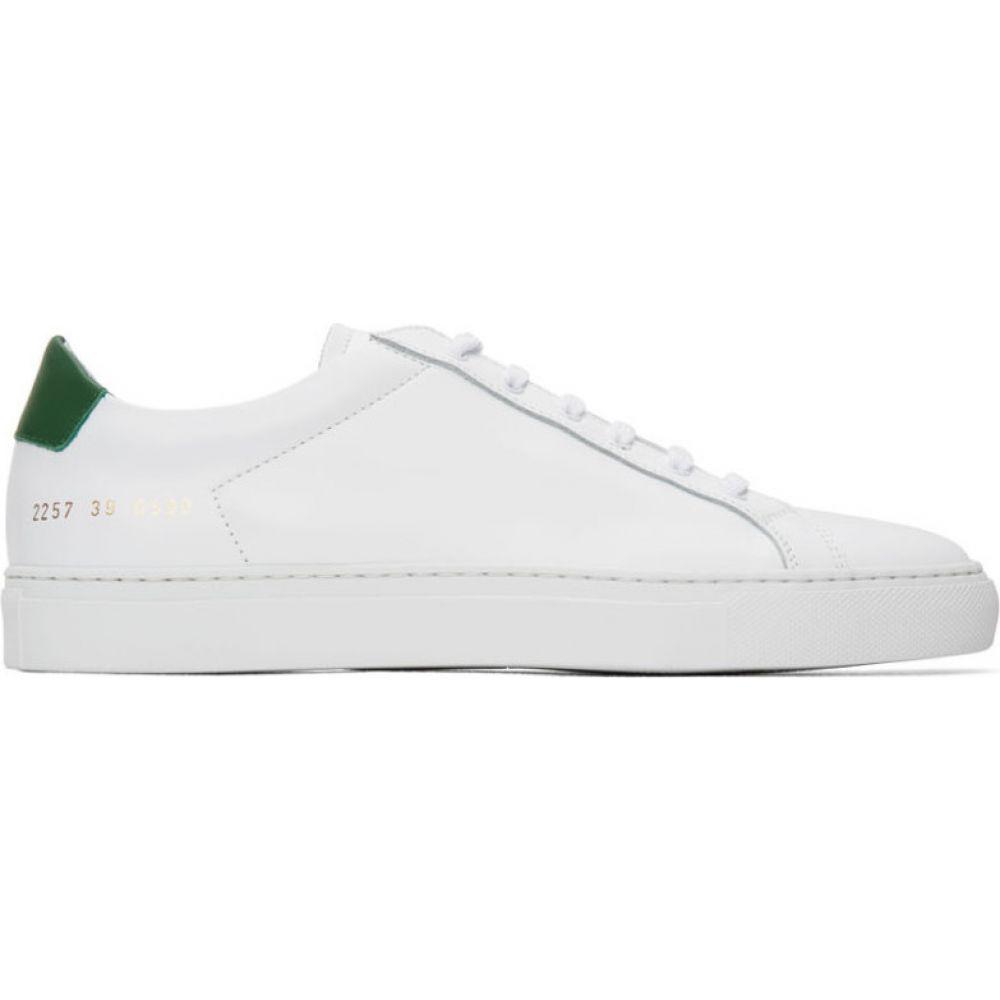 コモン プロジェクト Common Projects メンズ スニーカー シューズ・靴【White & Green Retro Low Sneakers】White/Green