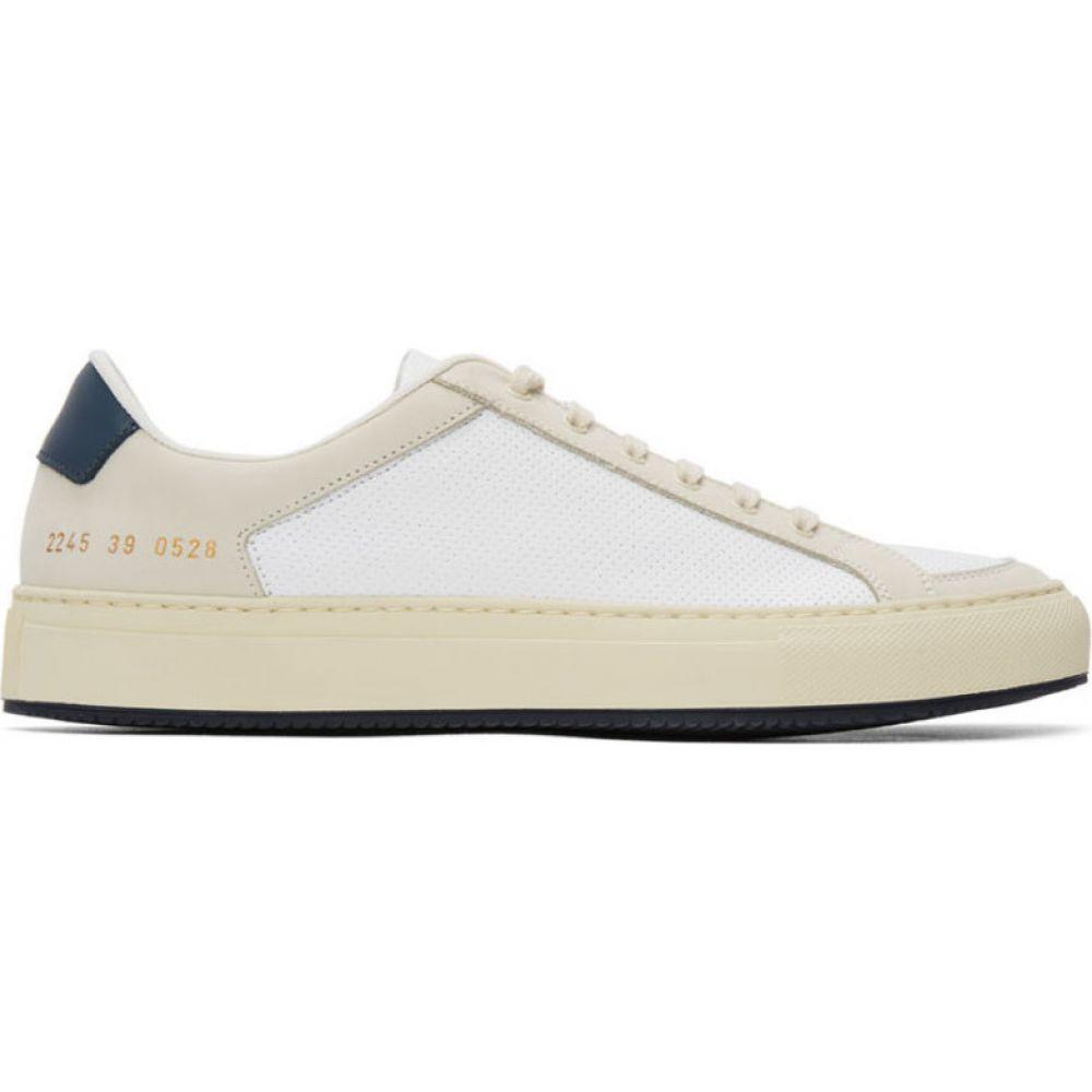 コモン プロジェクト Common Projects メンズ スニーカー シューズ・靴【White & Navy Retro 70's Sneakers】White/Navy