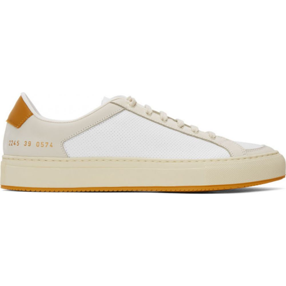 コモン プロジェクト Common Projects メンズ スニーカー シューズ・靴【White & Yellow Retro 70's Sneakers】White/Yellow