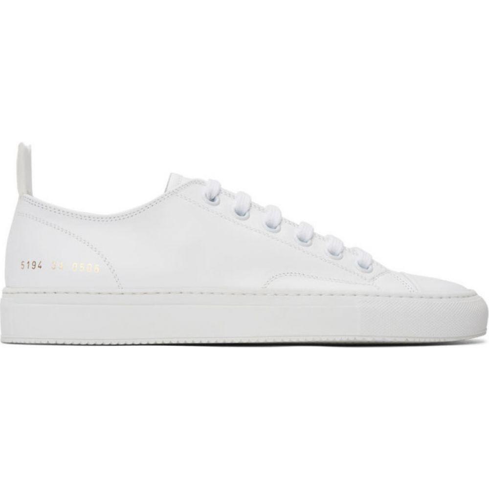 コモン プロジェクト Common Projects メンズ スニーカー シューズ・靴【White Leather Tournament Low Sneakers】White