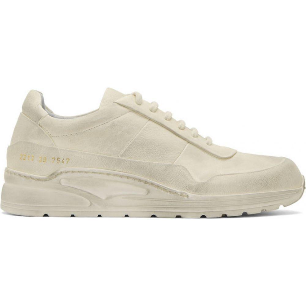 コモン プロジェクト Common Projects メンズ スニーカー シューズ・靴【White Leather Cross Trainer Sneakers】Dirty white