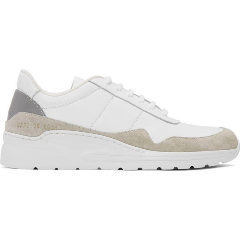 コモン プロジェクト Common Projects メンズ スニーカー シューズ・靴【White & Grey Cross Trainer Sneakers】White/Grey