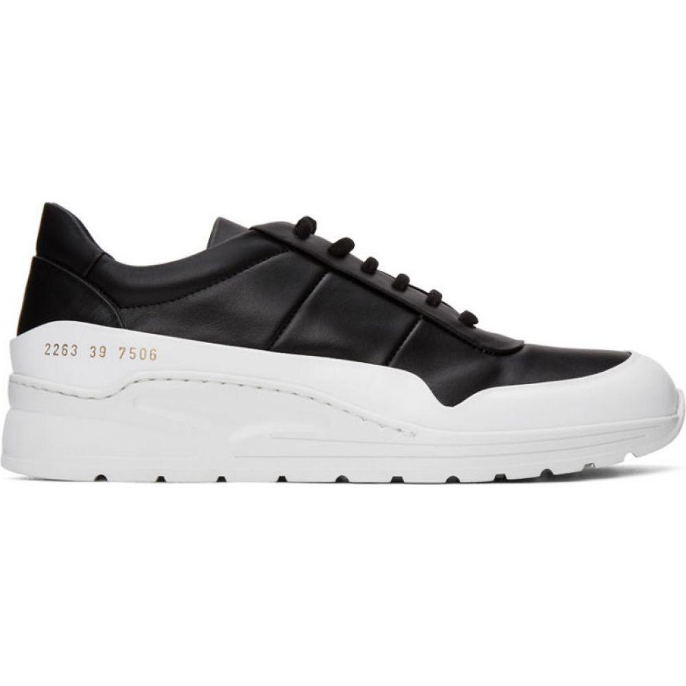 コモン プロジェクト Common Projects メンズ スニーカー シューズ・靴【Black & White Cross Trainer Sneakers】Black/White