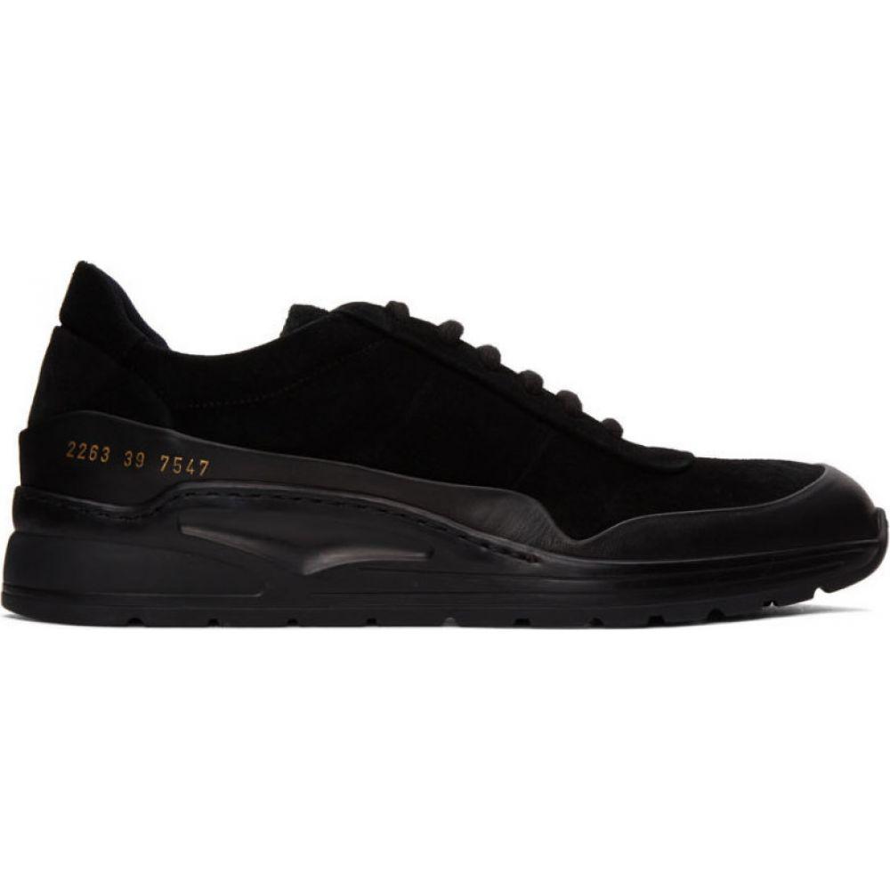 コモン プロジェクト Common Projects メンズ スニーカー シューズ・靴【Black Suede Cross Trainer Low Sneakers】Black/Black