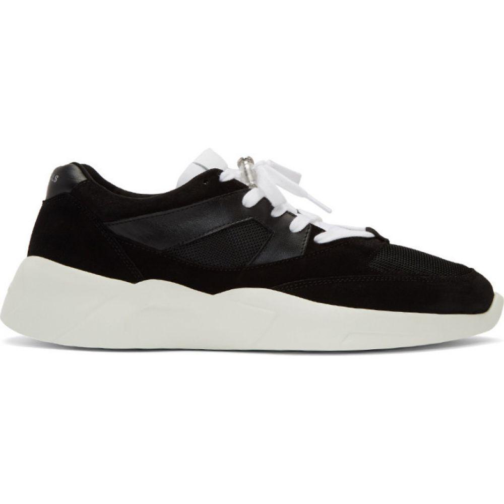 エッセンシャルズ Essentials メンズ スニーカー シューズ・靴【Black Distance Sneakers】Black