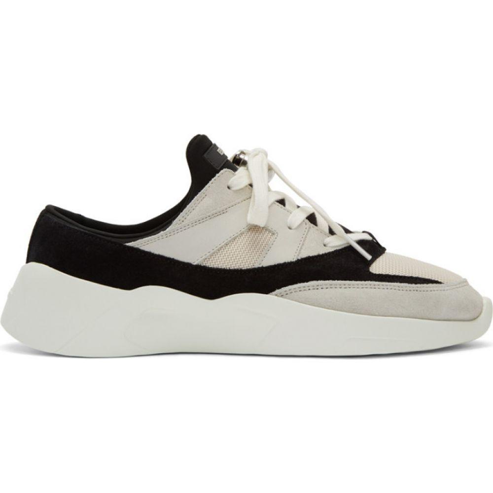 エッセンシャルズ Essentials メンズ スニーカー シューズ・靴【Black & Off-White Backless Sneakers】Cream/Black