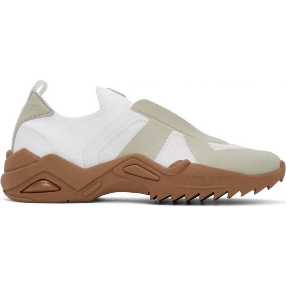 メゾン マルジェラ Maison Margiela メンズ スニーカー シューズ・靴【White & Beige Retro-Fit Replica Sneakers】White