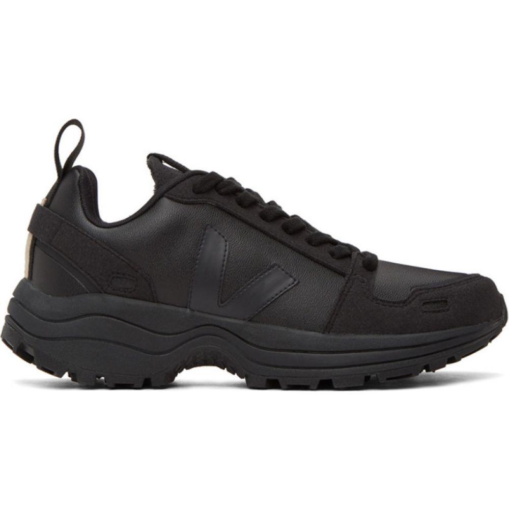 リック オウエンス Rick Owens メンズ ハイキング・登山 スニーカー シューズ・靴【Black Veja Edition Vegan Hiking Sneakers】Black