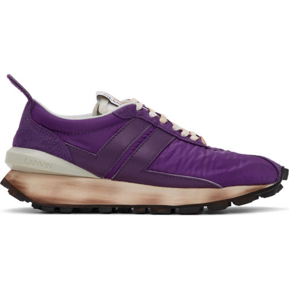 ランバン Lanvin メンズ スニーカー シューズ・靴【Purple Bumper Sneakers】Purple