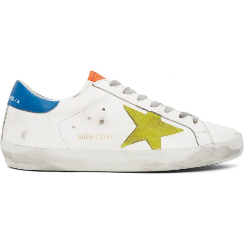 ゴールデン グース Golden Goose メンズ スニーカー シューズ・靴【White & Yellow Superstar Sneakers】White/Yellow