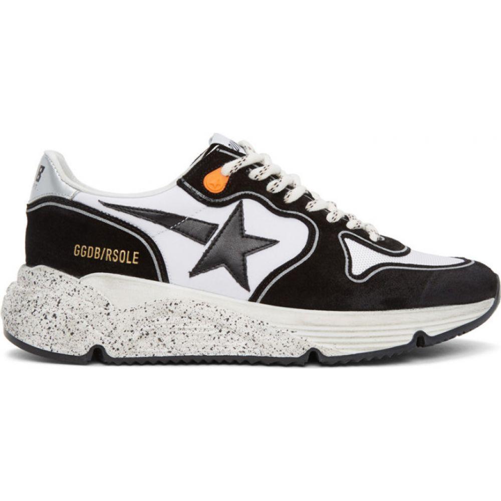 ゴールデン グース Golden Goose メンズ ランニング・ウォーキング スニーカー シューズ・靴【Black & White Running Sole Sneakers】White/Black