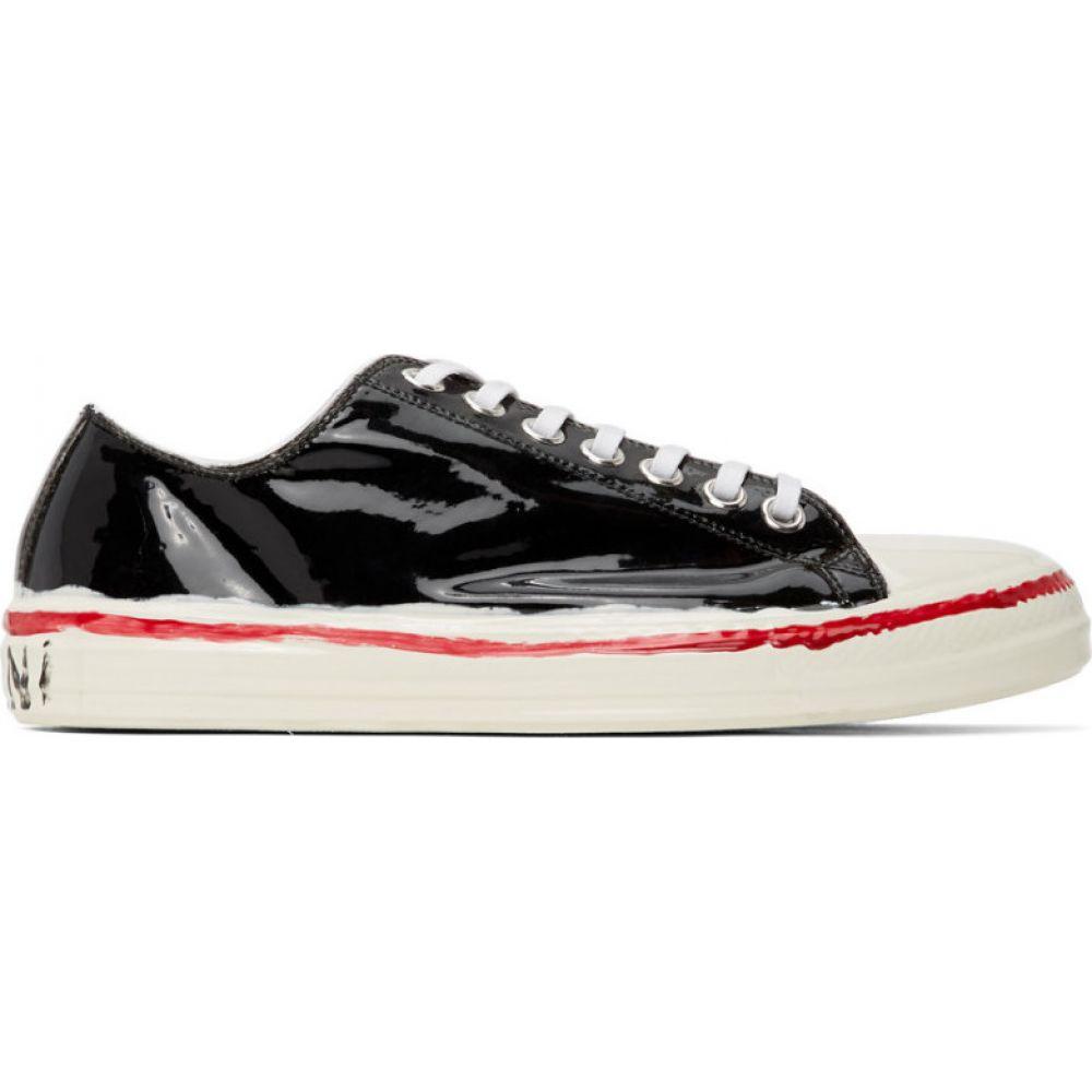 マルニ Marni メンズ スニーカー ローカット シューズ・靴【Black & Off-White Painted Low Top Sneakers】Black