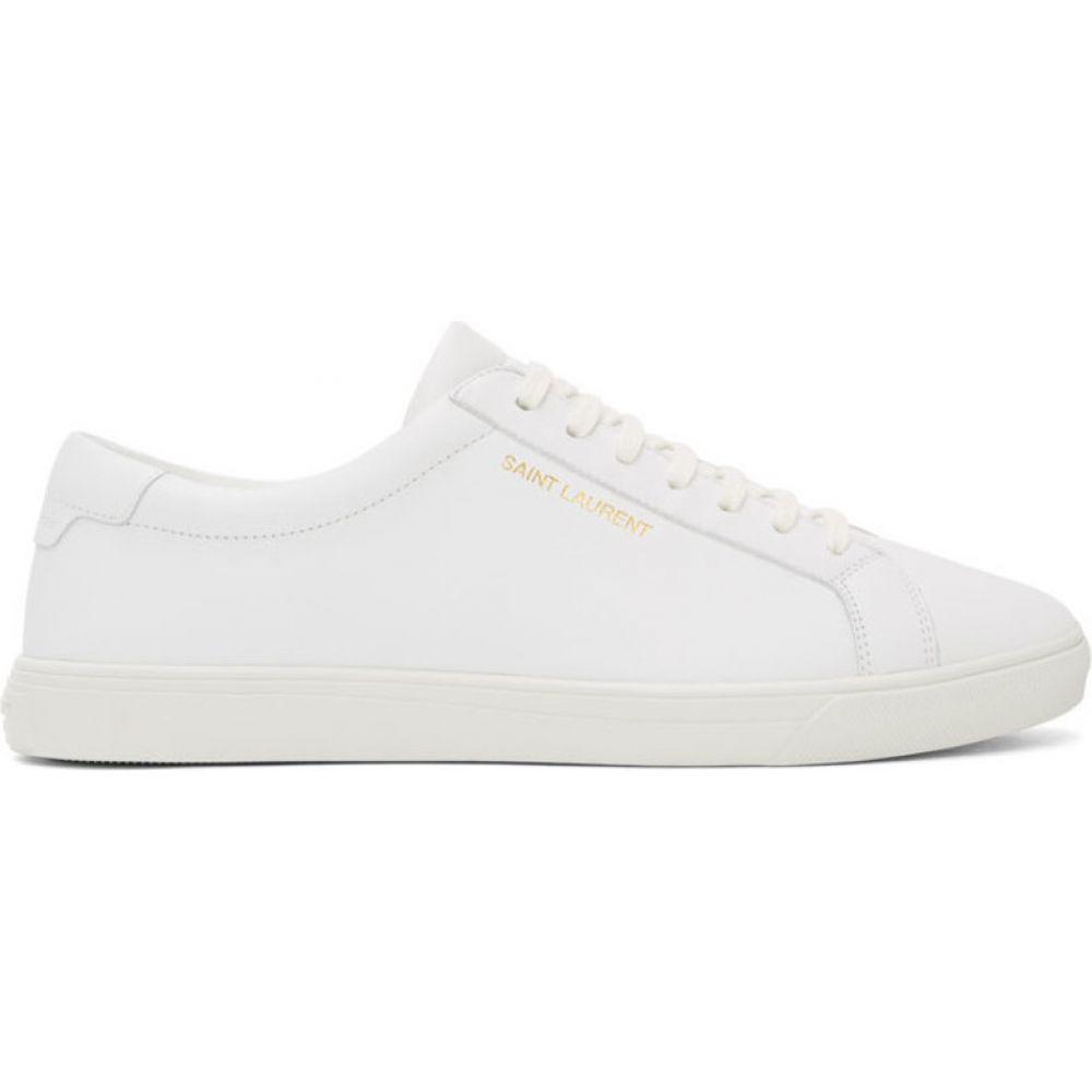 イヴ サンローラン Saint Laurent メンズ スニーカー シューズ・靴【White Andy Sneakers】White
