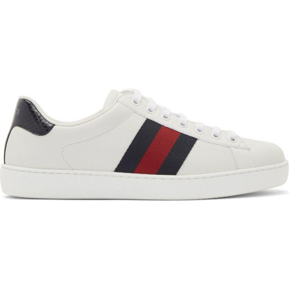 グッチ Gucci メンズ スニーカー シューズ・靴【White Ace Sneakers】White/Blue/Red