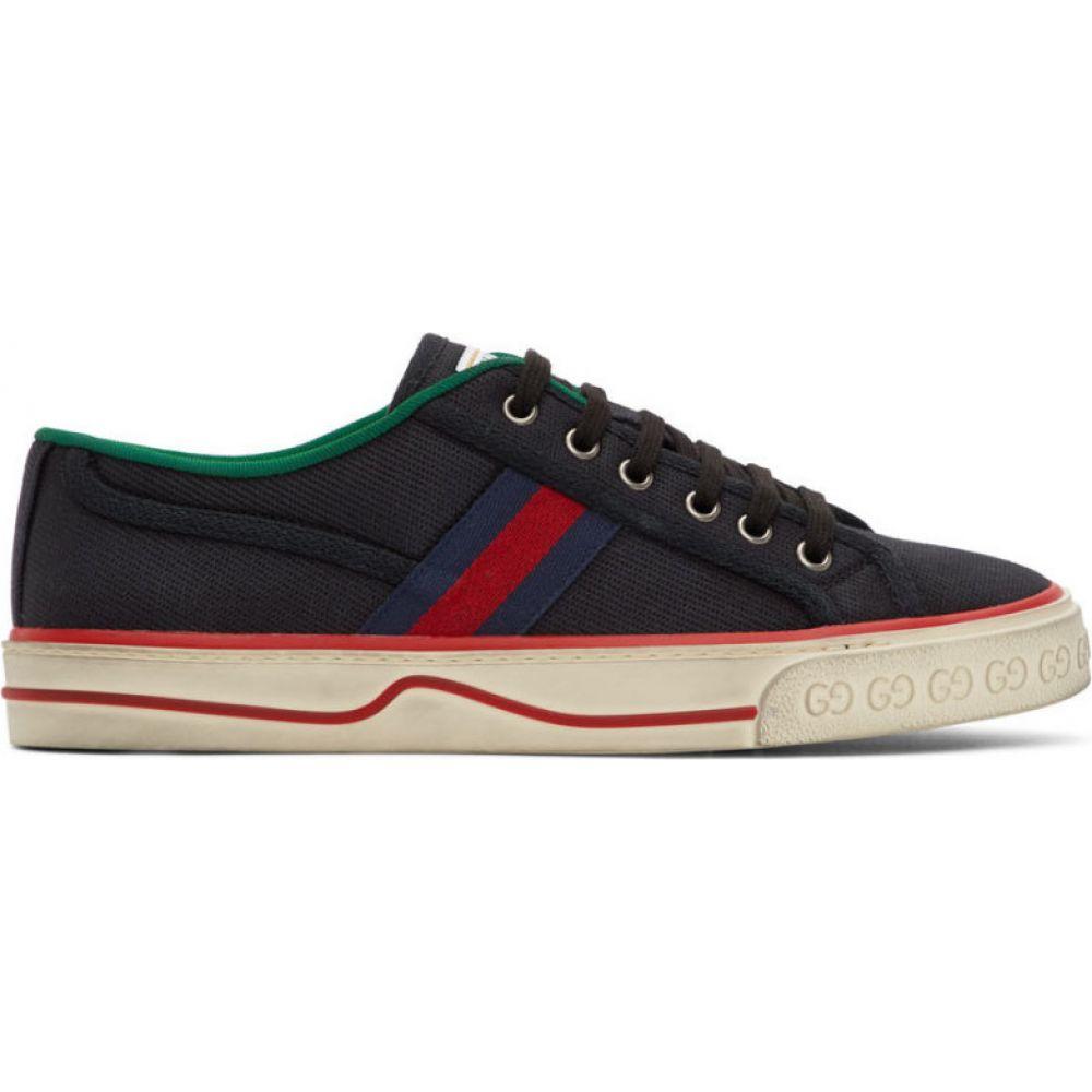 グッチ Gucci メンズ スニーカー シューズ・靴【Black GG ' Tennis 1977' Sneakers】Black