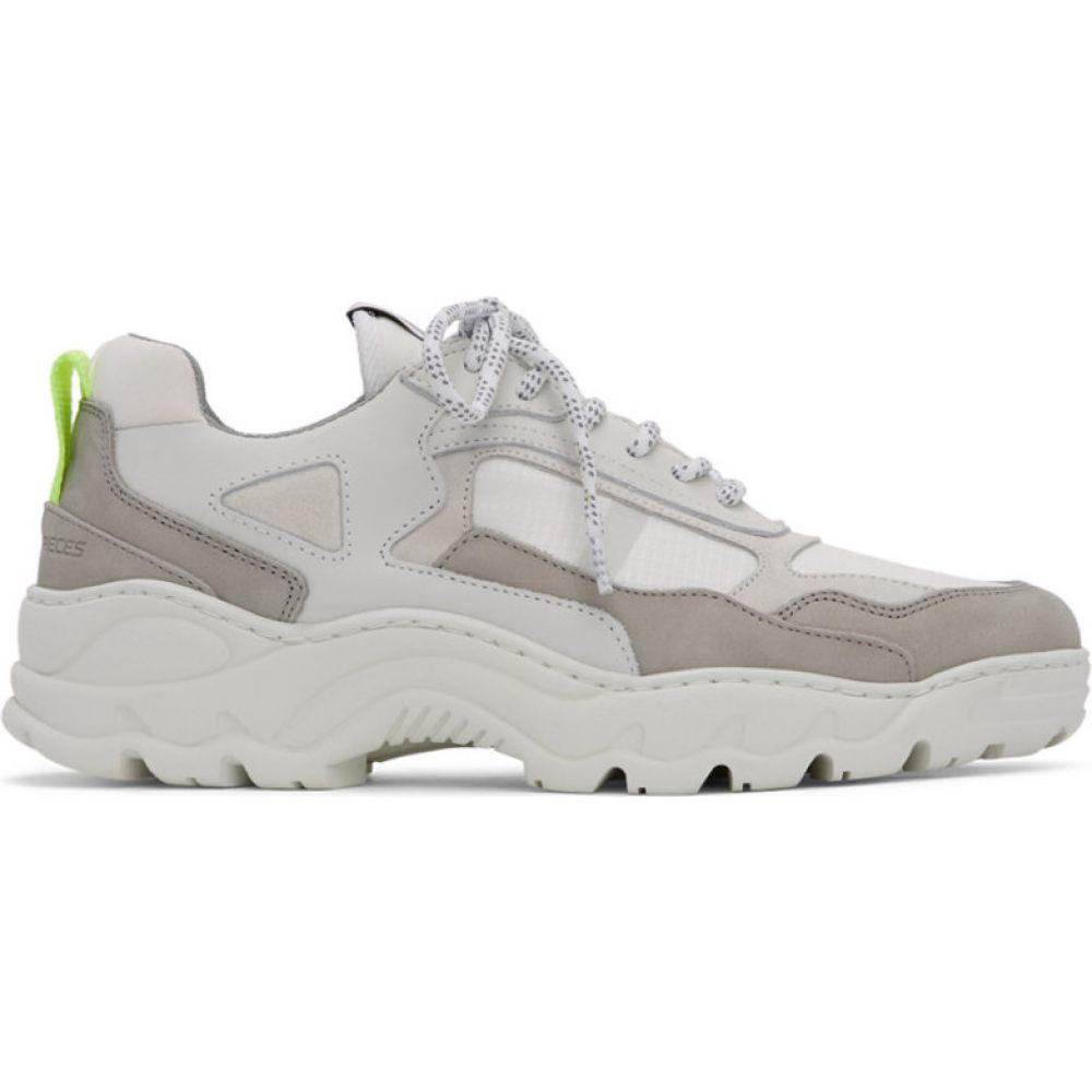 フィリング ピース Filling Pieces メンズ スニーカー シューズ・靴【White Low Curve Iceman Trimix Sneakers】White