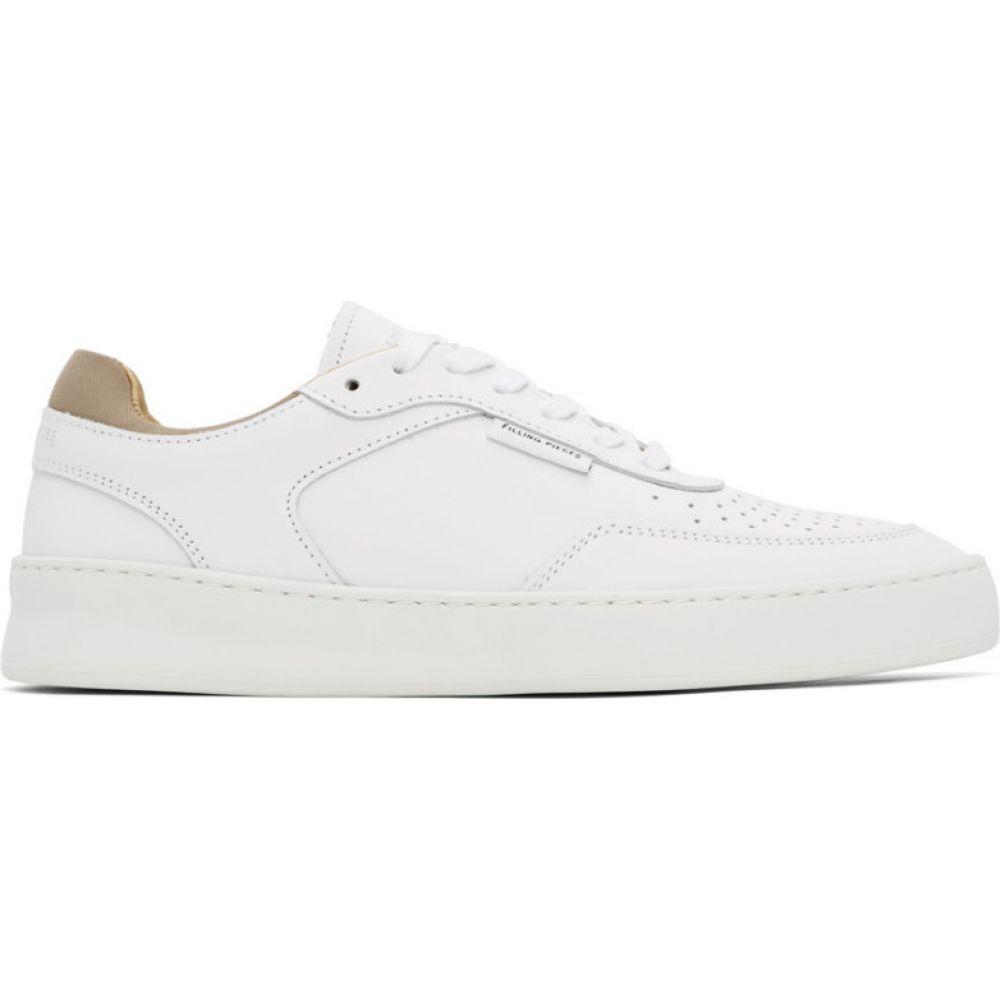 フィリング ピース Filling Pieces メンズ スニーカー シューズ・靴【White Spate Plain Phase Sneakers】White
