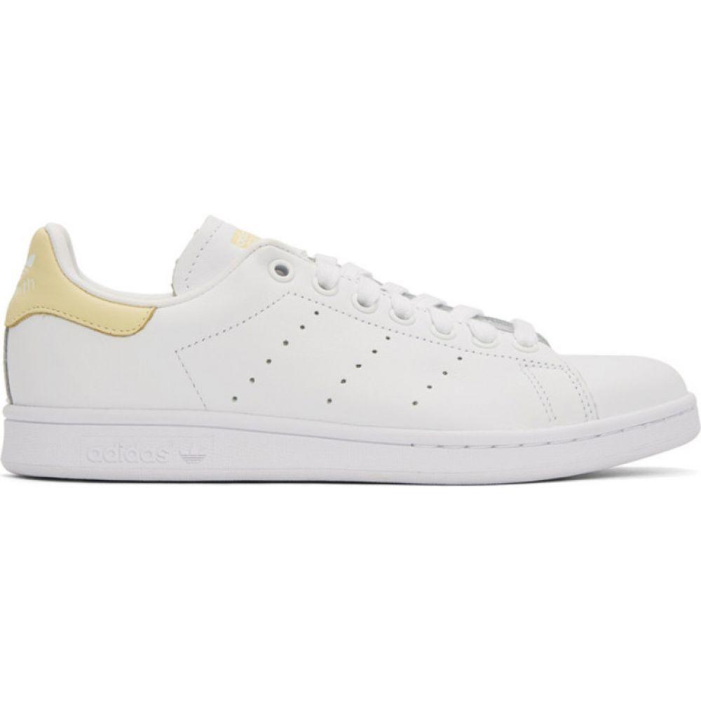 アディダス adidas Originals メンズ スニーカー スタンスミス シューズ・靴【White & Yellow Stan Smith Sneakers】Cloud white/Cloud white/Easy yellow