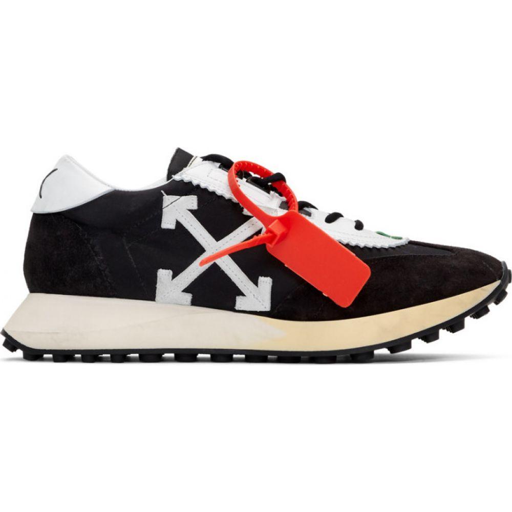 オフホワイト Off-White メンズ ランニング・ウォーキング スニーカー シューズ・靴【Black & White Running Sneakers】Black/White