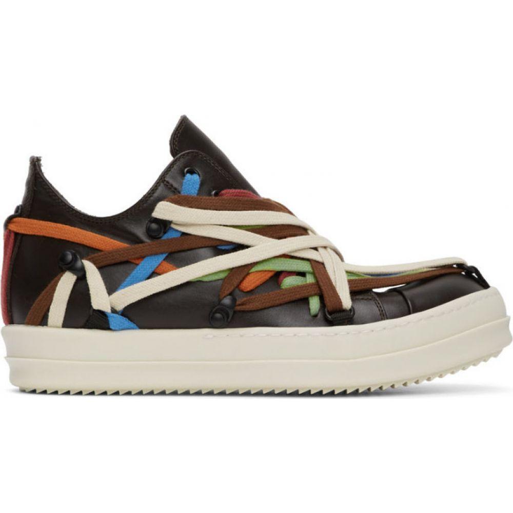 リック オウエンス Rick Owens メンズ スニーカー シューズ・靴【Brown Lace Sneakers】Bronze