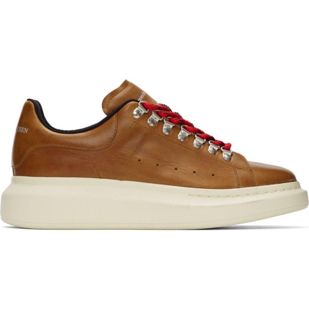 アレキサンダー マックイーン Alexander McQueen メンズ ハイキング・登山 スニーカー シューズ・靴【Brown Hybrid Hiking Sneakers】Rust/Black