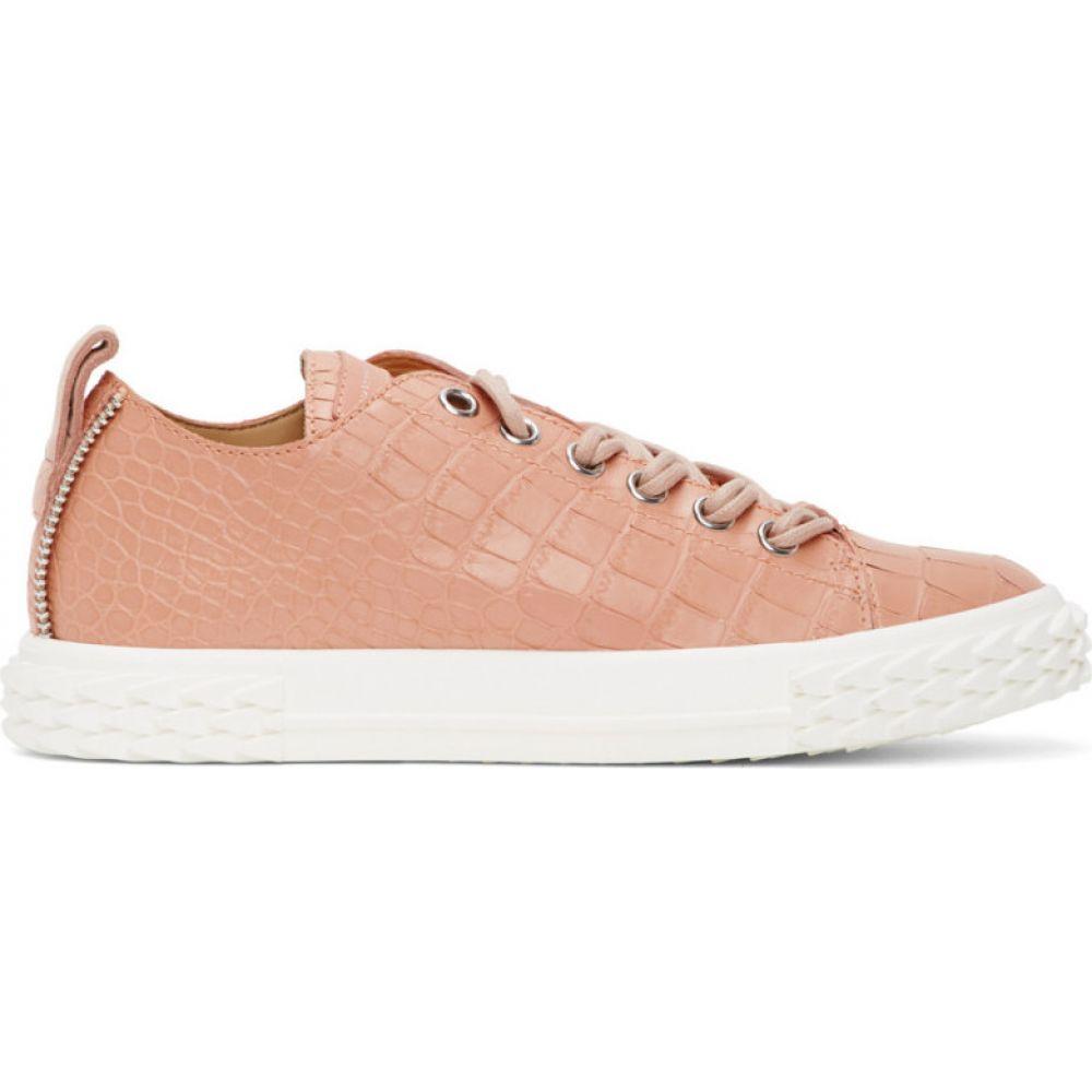 ジュゼッペ ザノッティ Giuseppe Zanotti メンズ スニーカー シューズ・靴【Pink Croc Blabber Sneakers】Peach