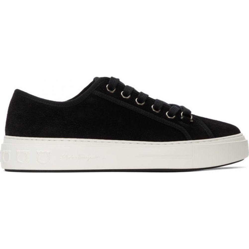 サルヴァトーレ フェラガモ Salvatore Ferragamo メンズ スニーカー シューズ・靴【Black Suede Anson Sneakers】Black
