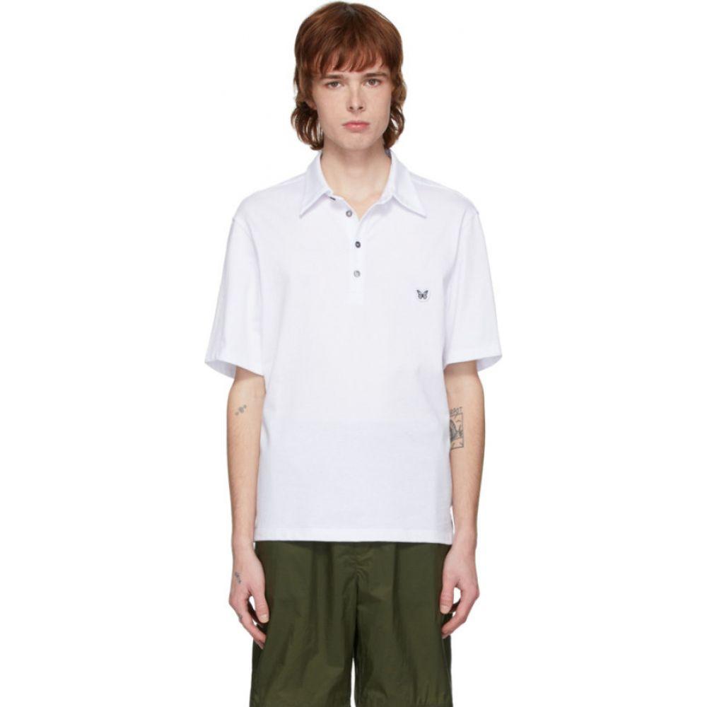 ダヴィ パリ Davi Paris メンズ ポロシャツ トップス【White Logo Patch Polo】Jersey blanc