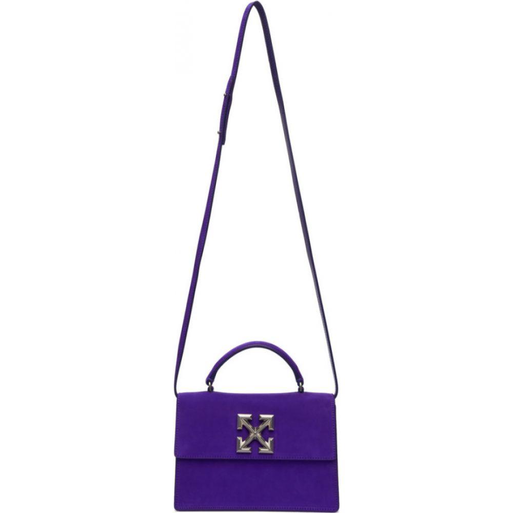 オフホワイト Off-White レディース ショルダーバッグ バッグ【Purple Suede Jitney 1.4 Bag】Violet