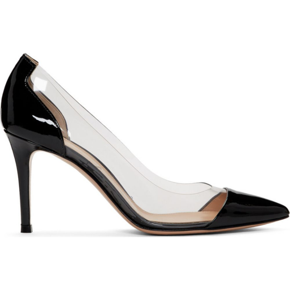 ジャンヴィト ロッシ Gianvito Rossi レディース ヒール シューズ・靴【Black Patent Plexi Heels】Black