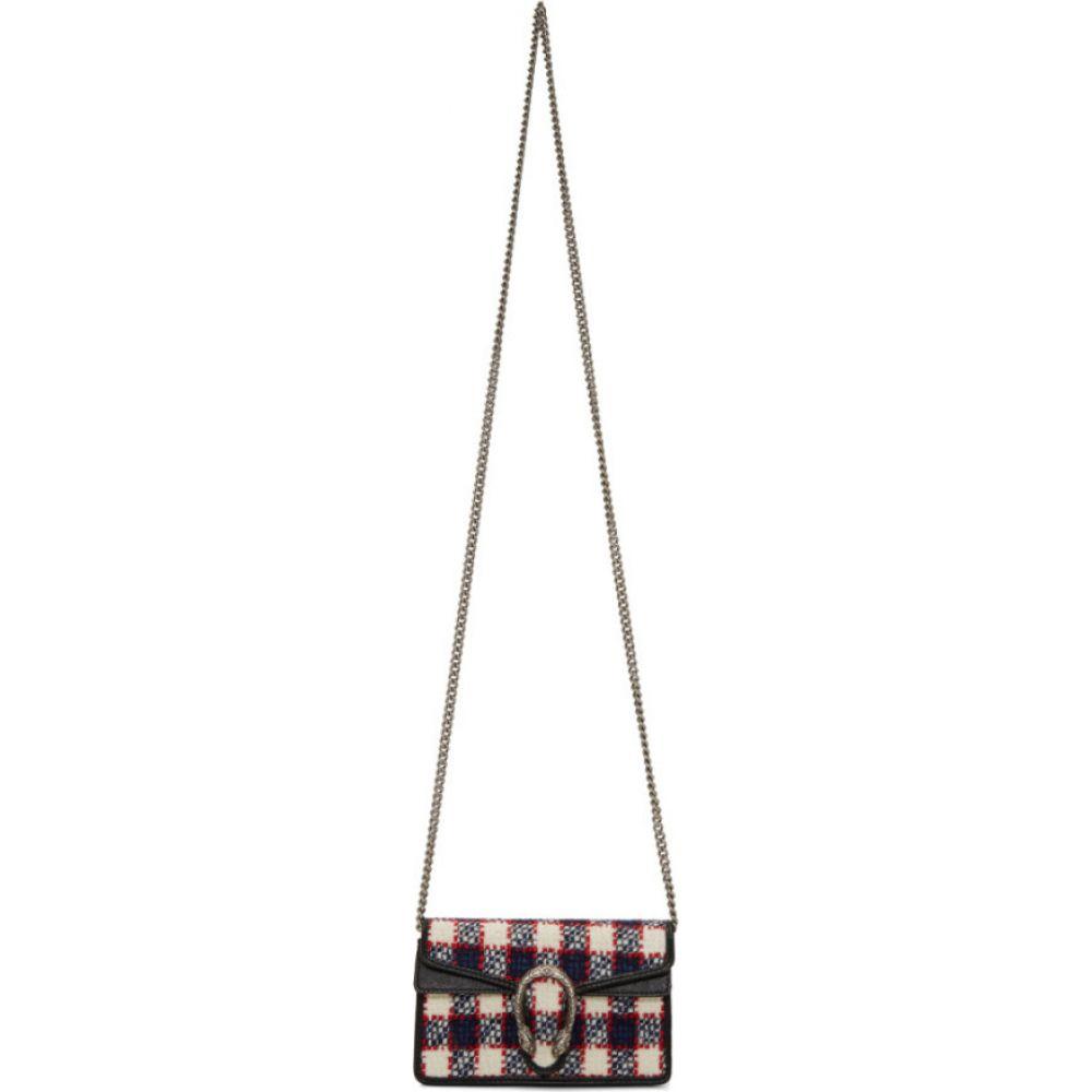 グッチ Gucci レディース ショルダーバッグ バッグ【Navy Supermini Tweed Dionysus Chain Bag】Navy