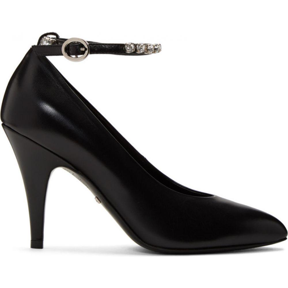 グッチ Gucci レディース ヒール アンクルストラップ シューズ・靴【Black Crystal Ankle Strap Heels】Nero