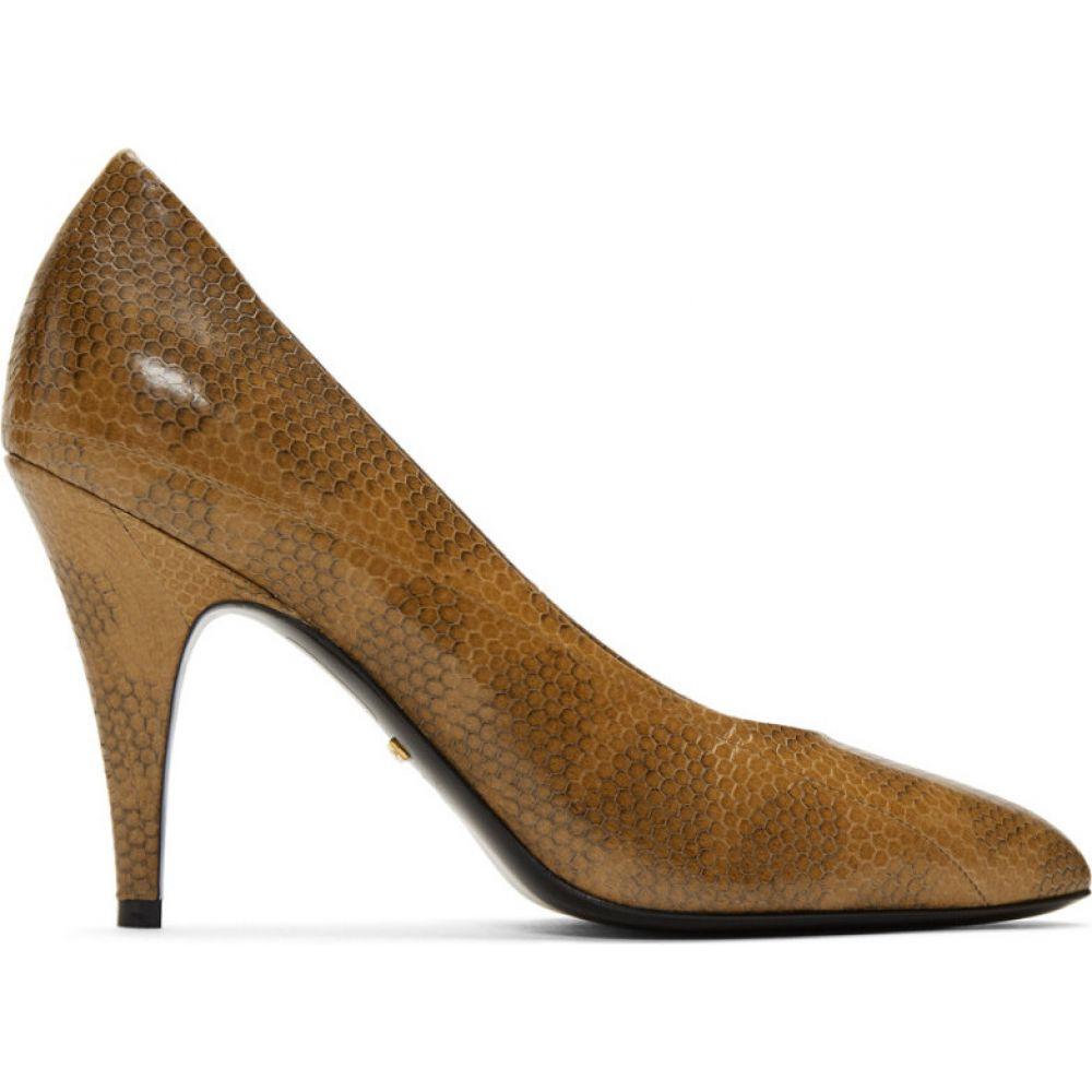 グッチ Gucci レディース ヒール シューズ・靴【Tan Python Heels】Tawny