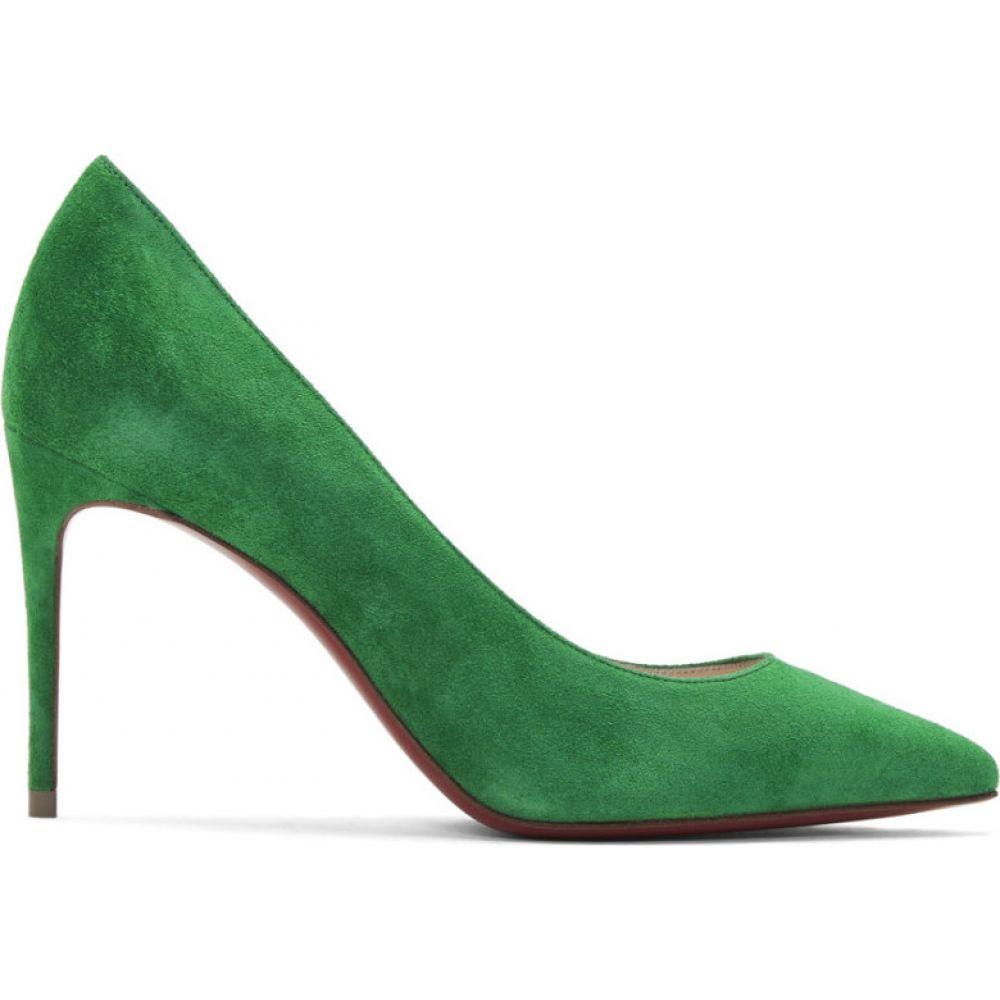 クリスチャン ルブタン Christian Louboutin レディース ヒール シューズ・靴【Green Velour Suede Kate 85 Heels】Irish