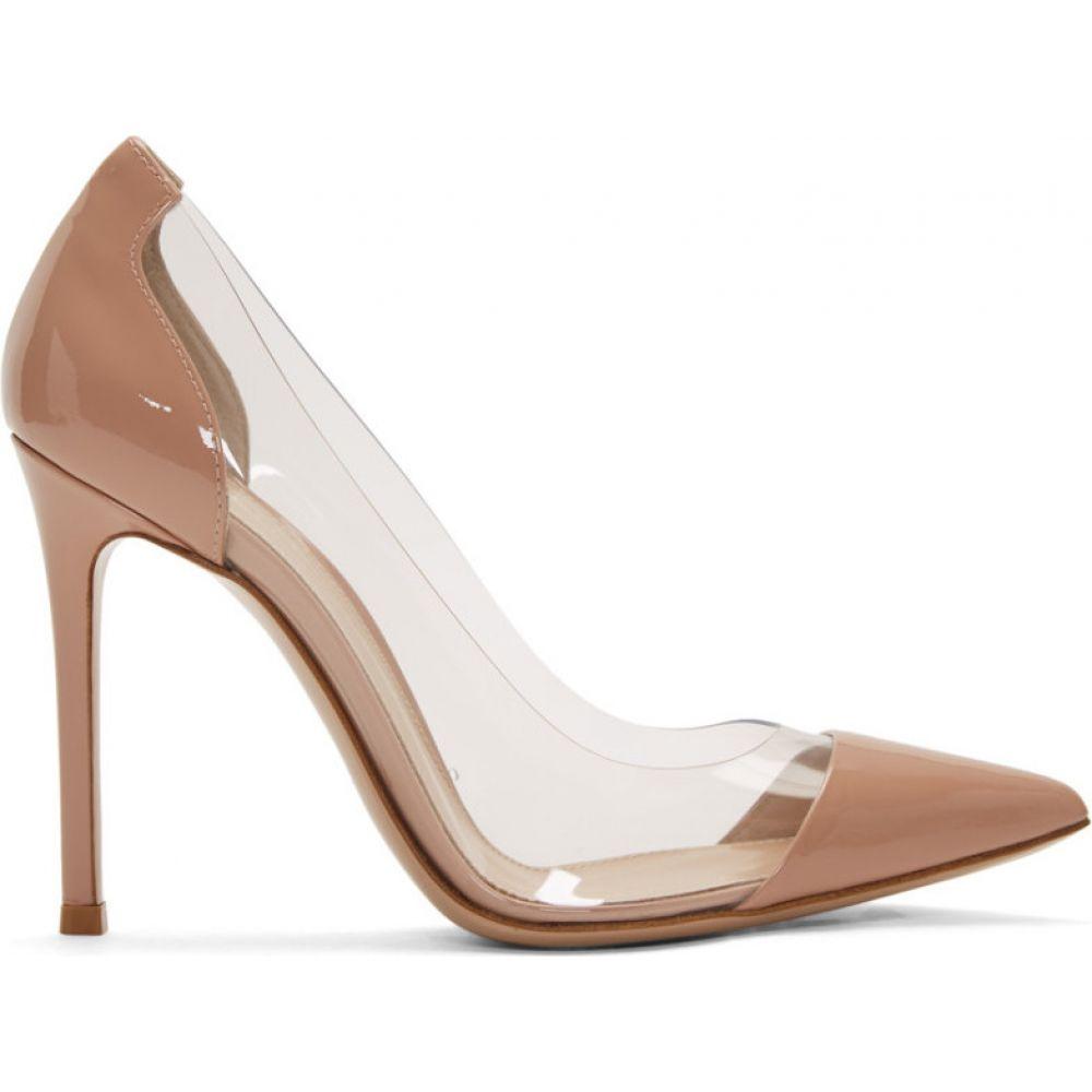 ジャンヴィト ロッシ Gianvito Rossi レディース ヒール シューズ・靴【Pink Patent Plexi 105 Heels】Dahlia