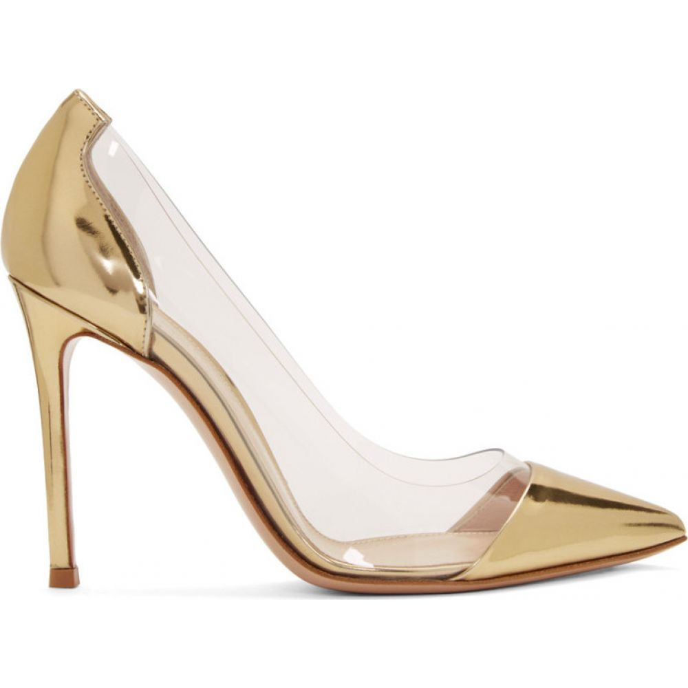 ジャンヴィト ロッシ Gianvito Rossi レディース ヒール シューズ・靴【Gold Patent Plexi 105 Heels】Gold