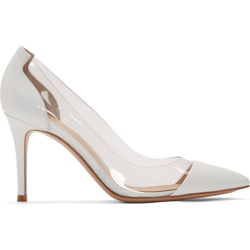ジャンヴィト ロッシ Gianvito Rossi レディース ヒール シューズ・靴【White Patent Plexi 85 Heels】White
