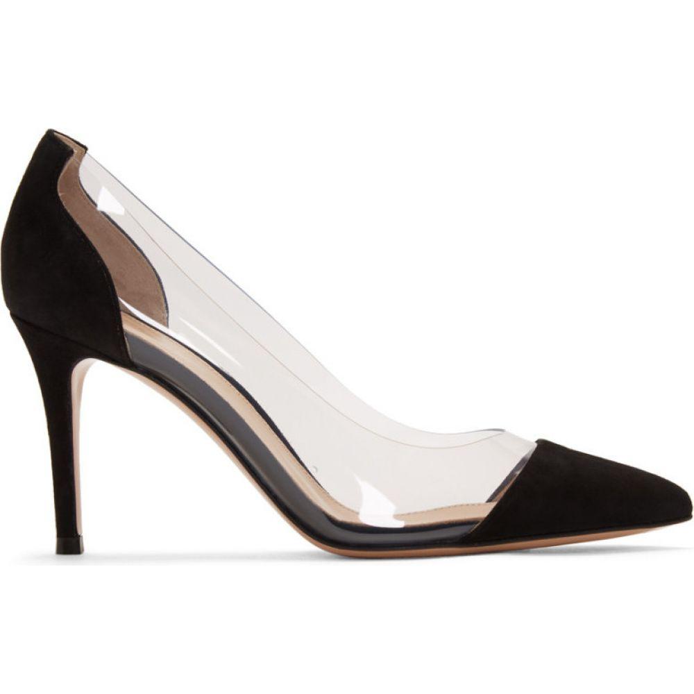 ジャンヴィト ロッシ Gianvito Rossi レディース ヒール シューズ・靴【Black Suede Plexi 85 Heels】Black